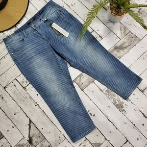 Max Jeans Linier Pinstripe Capri Jeans 14